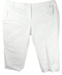 Charter Club Plus Size Fashions Tailored Capris White