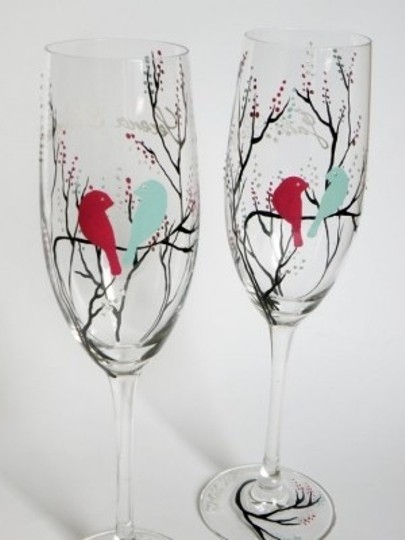Other Hand Painted Glasses Personalized Flutes B Reception Decoration