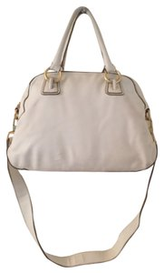 Talbots Satchel in White Gold