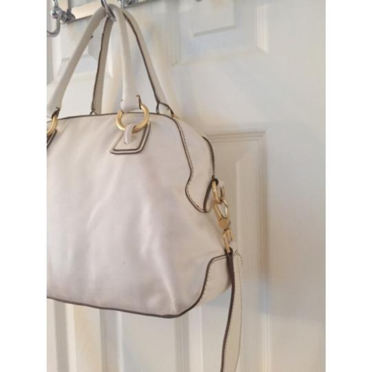 Talbots Satchel in White Gold Image 2