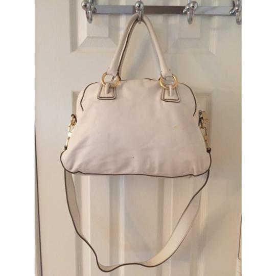 Talbots Satchel in White Gold Image 4