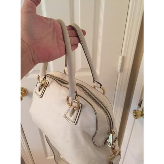 Talbots Satchel in White Gold Image 5