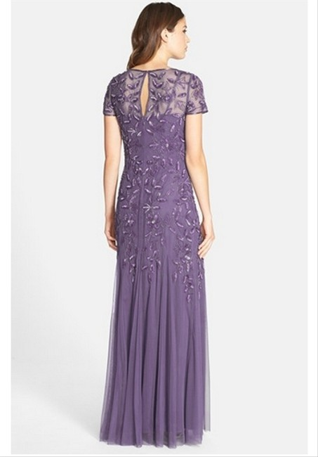 Adrianna Papell Beaded Gown Full Length Dress