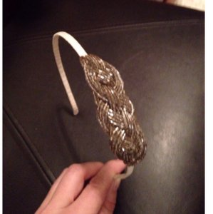Target Silver Headband with Pretty Braided Beaded Detail