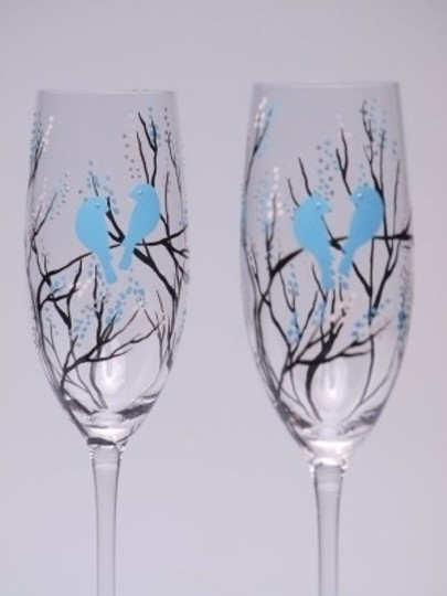 Other Hand Painted Toasting Flutes Set Of 2 Pers Ceremony Decoration