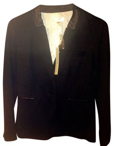 Kenar Leather black Blazer