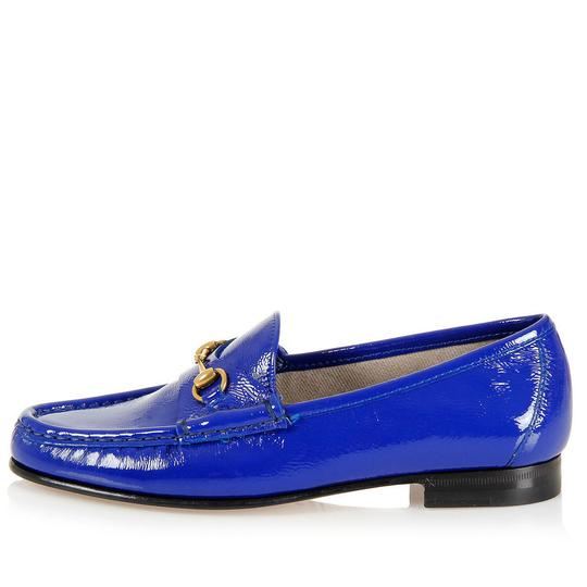 Gucci New Loafers 318394 Blue Flats