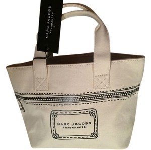Marc Jacobs Designer Handbag White Brown Satchel
