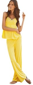 Victoria's Secret Victoria's Secret Pajamas!! yellow with white polka dots! new in Package!!!