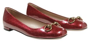 Gucci Jolene 8.5 New dark red Flats