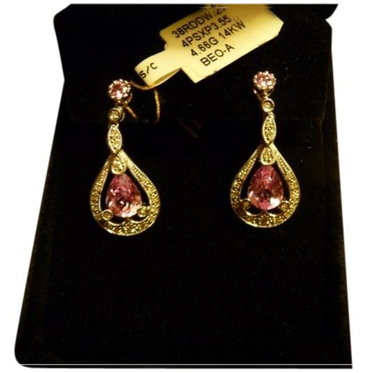 Preload https://item3.tradesy.com/images/other-14k-white-gold-pink-topaz-and-diamond-dangle-earrings-5342062-0-0.jpg?width=440&height=440
