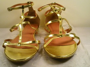 Avon Metallic Gladiator Gold Sandals