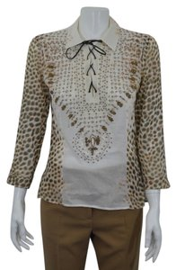 Roberto Cavalli Top White/Brown