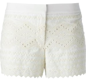 Tory Burch Eyelit Eyelet Lace Dress Shorts White
