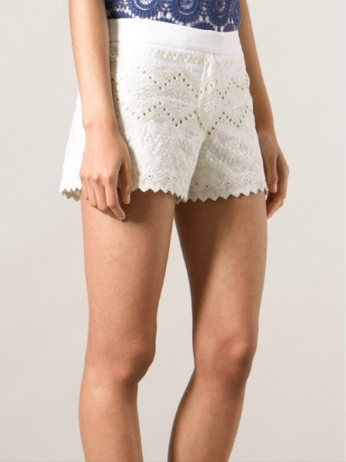 Tory Burch Tb Veronique Summer Spring Wedding Beach Cover-up Graduation Boat Pool Polo Off Beige Creme Cream Nude Ivory Lilly Tv Dress Shorts White