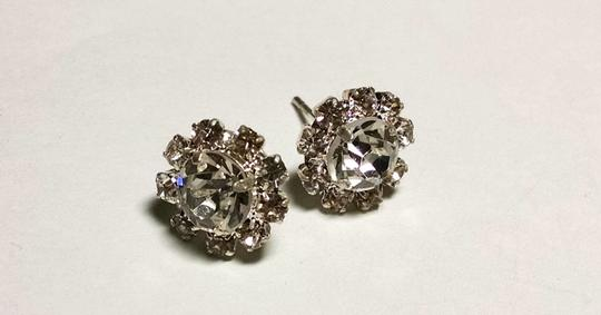 Other New Cubic Zirconia Stud Earrings Silver 10 mm J1186