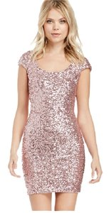 Koi Pink Blush Keyhole Sequin Dress