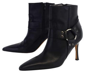 Manolo Blahnik Leather Harness Boots