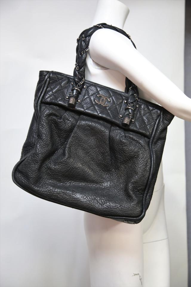d09943b24c4a89 Chanel Bag Lady Braid Black Leather Tote - Tradesy