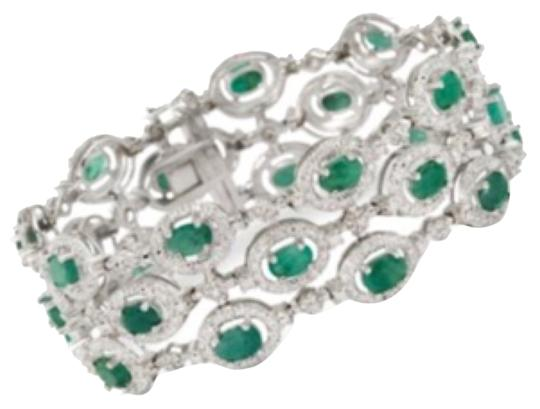 Emerald Bracelet with Diamonds Ross-Simons