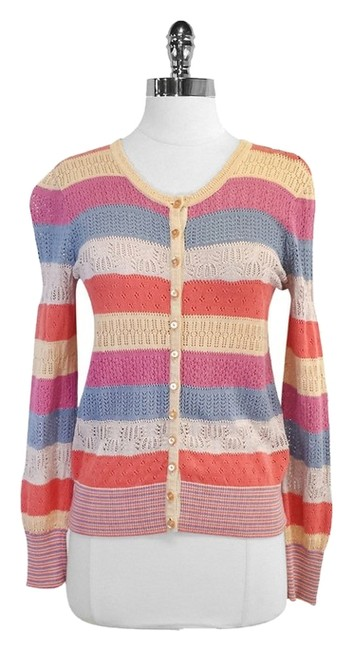 Preload https://item2.tradesy.com/images/marc-by-marc-jacobs-multi-color-knit-striped-cotton-cardigan-size-0-xs-5343361-0-0.jpg?width=400&height=650