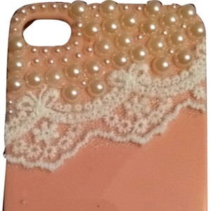 Unknown Peach Pearl And Lace iPhone 4 Case