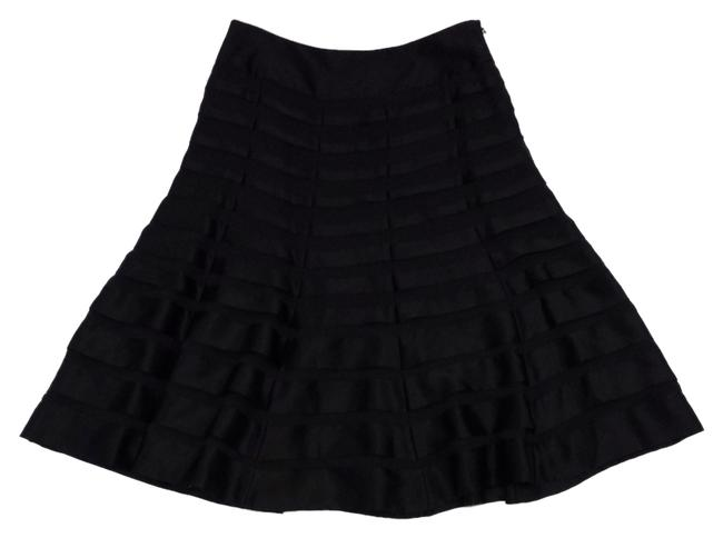Carmen Marc Valvo Silk Tiered Circle Skirt