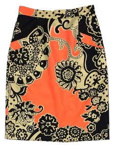 Tibi Floral Print Silk Pencil Pencil Skirt