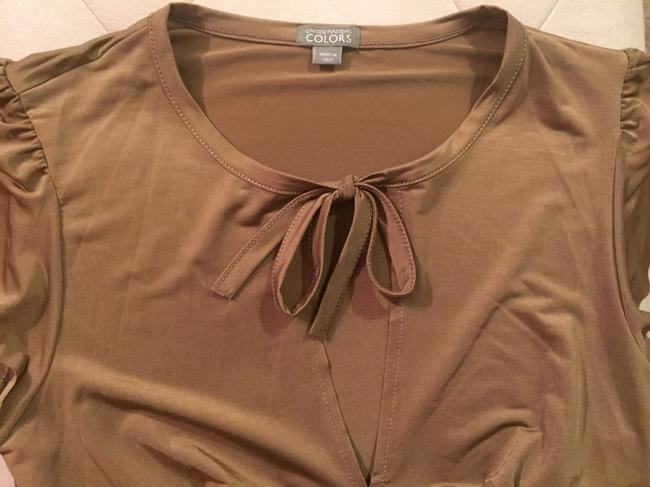 United Nations COLORS Sexy Keyhole Tie Bow Top Gold