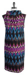 Tracy Reese short dress Multi Color Geo Print Wool on Tradesy