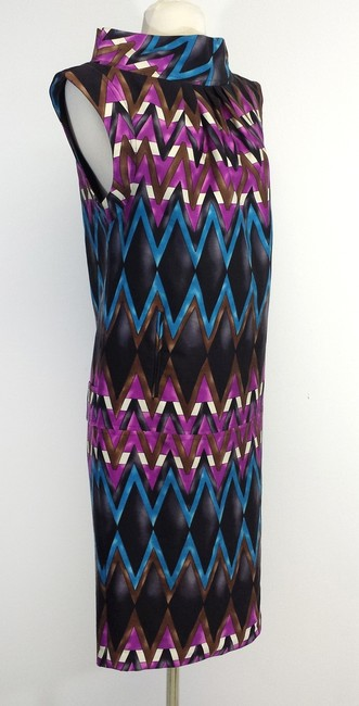 Tracy Reese short dress Multi Color Geo Print Wool Sleeveless on Tradesy
