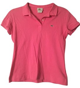 Lacoste Polo Crocodile T Shirt Pink