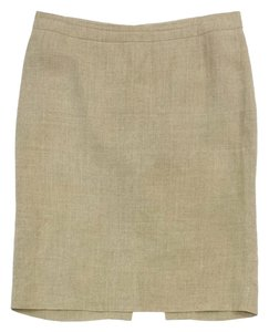 Valentino Tan Linen Pencil Skirt