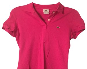 Lacoste Crocodile T Shirt Hot Pink