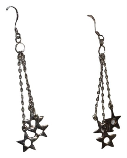 Other STERLING SILVER DELICATE DANGLE STAR EARRINGS