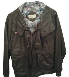 Prestige Club Chocolate Brown Leather Jacket