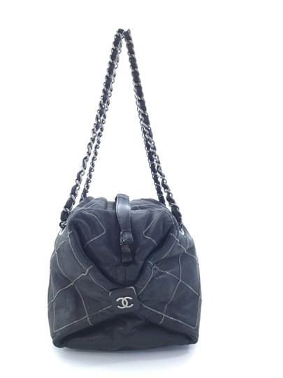 Chanel Leather Edgy Chain Shoulder Bag