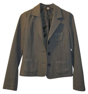 Old Navy Herringbone Menswear Borrowed From The Boys Brown/Beige Blazer