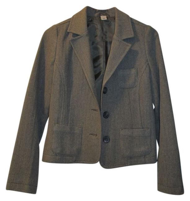 Item - Brown/Beige Herringbone Blazer Size 0 (XS)