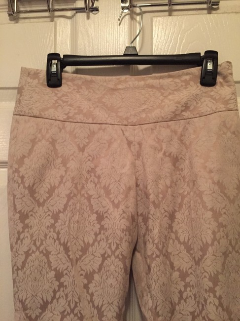Elie Tahari Straight Pants white and gold