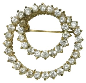 Brooch Genuine 925 In Gold Tone