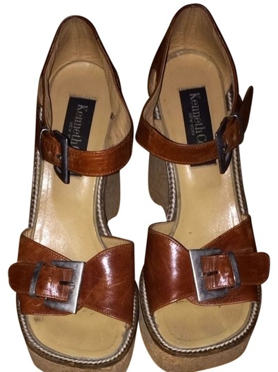 Kenneth Cole Cork Brown Wedges
