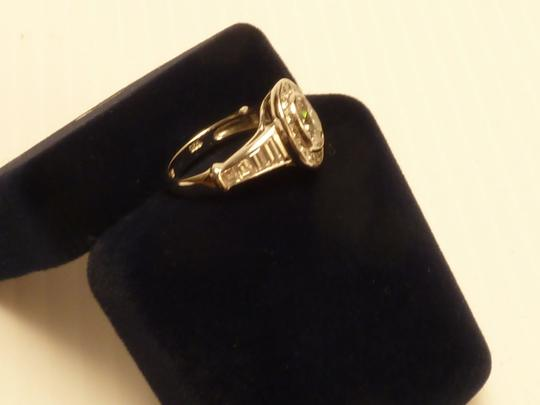 Other Faux Oval and Baguette Diamond Ring Sterling Silver