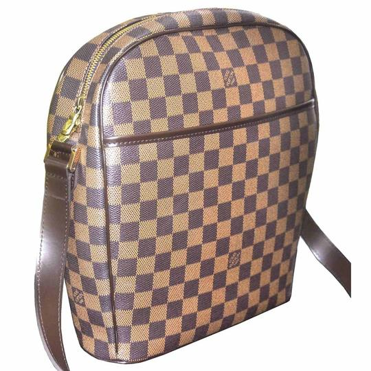 Louis Vuitton Damier Ebene Canvas Ipanema Gm Handbag Shoulder Bag