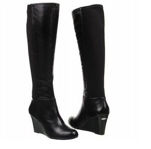 Michael Kors Bromley Wedge Black Boots