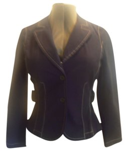 Ann Taylor LOFT Cotton Jacket Size 6 Black Blazer