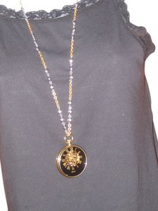 MONET Vintage Gold Tone Fashion Watch Necklace