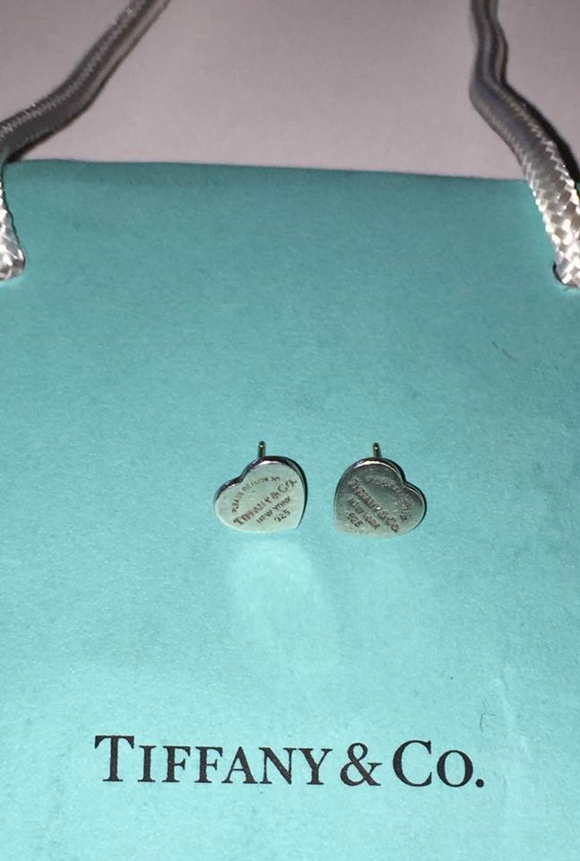 cfe24432c Tiffany & Co. Return to Tiffany mini heart tag earrings in sterling silver  Image 0 ...