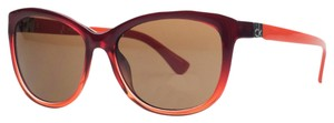 Calvin Klein Calvin Klein Red Clear Cateye Sunglasses