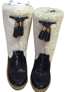 Tory Burch Navy/ natural Boots